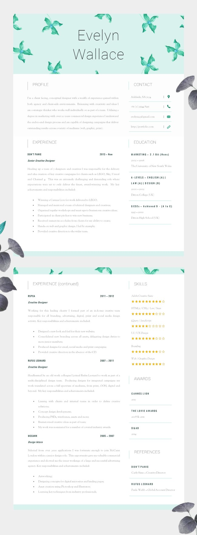 High Impact Resume Template