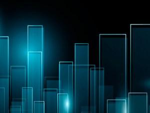 abstract skyline illustration