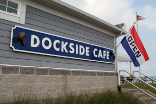 Dockside Cafe offers a relaxing waterfront dining experience next to Sandusky Bay.