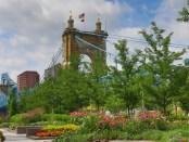 Bridge as seen from Cincinnati