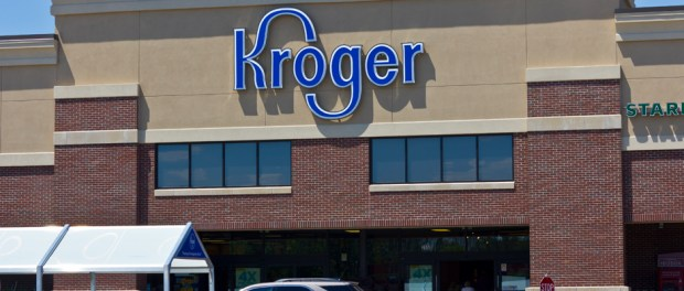 Front of Kroger store as seen from parking lot