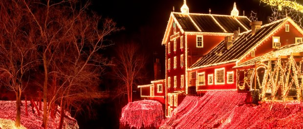 Clifton Mill Holiday Lights in Ohio