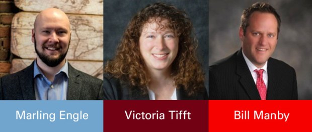 Marling Engle, Victoria Tifft and Bill Manby