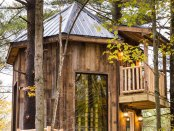 El Castillo, one of nine treehouses that make up the Mohicans Treehouse Resort and Wedding Venue near Loudonville, Ohio.