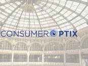 ConsumerOptix Logo over the Dayton Arcade interior