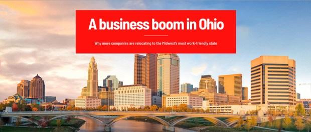 skyline of Columbus, Ohio - business boom in Ohio