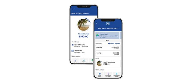 Fifth Third Bank has launched Momentum Banking - phones showing application
