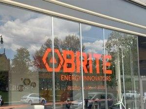 Brite Energy Innovators logo on window