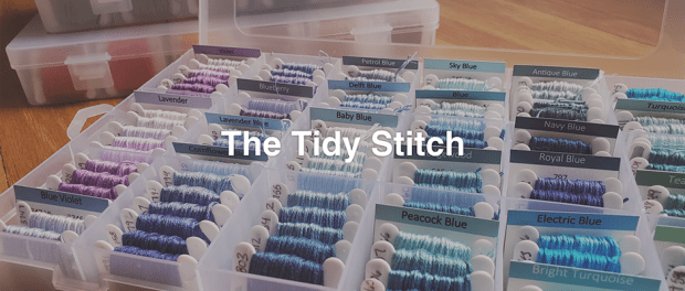 The Tidy Switch - collection of thread neat and tidy organized by color