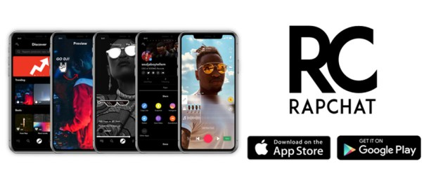 Rap-Chat-Logo-with-phones-showing-the-app