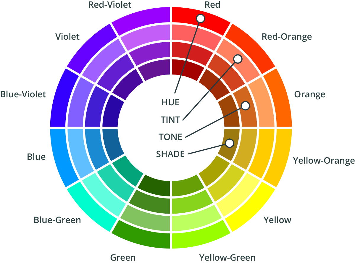 hight resolution of colour wheel