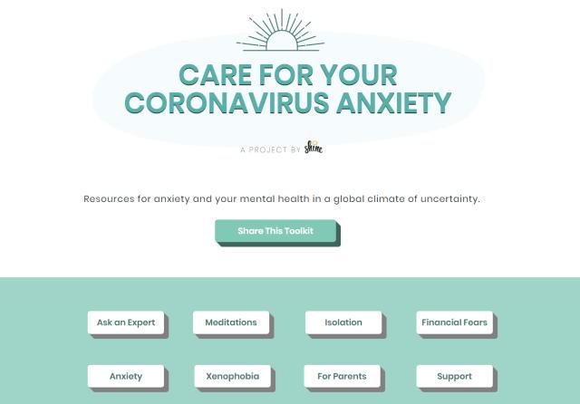 Screenshot of homepage of www.virusanxiety.com