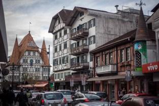Downtown Blumenau, a southern Brazilian city with a distinctly German feel.