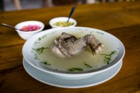 Majas soup is a speciality in the region. It was very tasty.