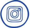 Carte Blanche Instagram Blue Icon