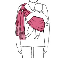 Your baby will be held safely and comfortably to one side, leaving you with both hands free.