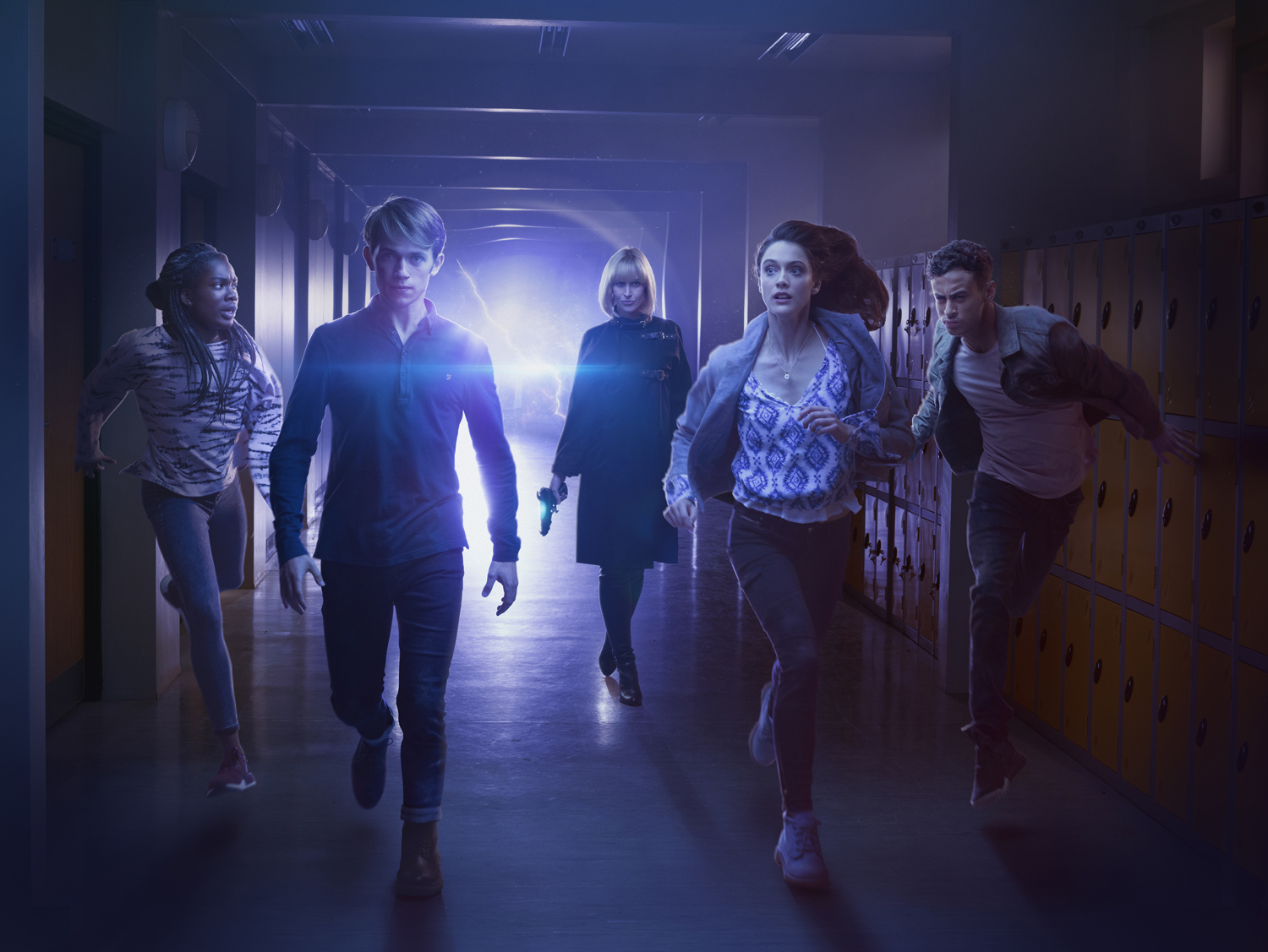 Picture Shows: (L-R) Tanya (VIVIAN OPARAH), Charlie (GREG AUSTIN), Miss Quill (KATHERINE KELLY), April (SOPHIE HOPKINS), Ram (FADY ELSAYED) - (C) BBC - Photographer: Todd Antony