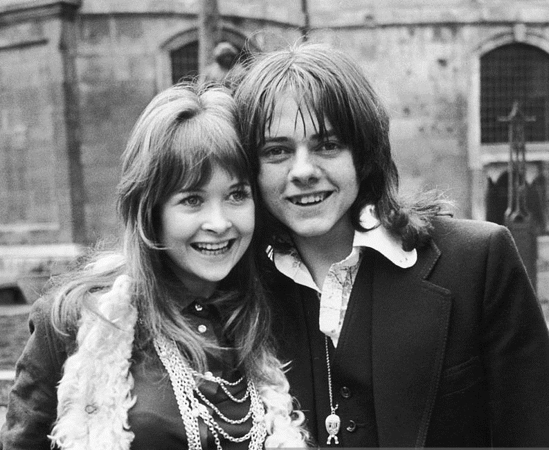 Child actor Jack Wild, with Gaynor Jones in March 1973.