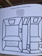 Improbable Rooms: A List. Add Your Own. One of the darts' Creative Directions Doodle Book activities by poet Ian McMillan.