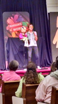 Maegan with her puppet