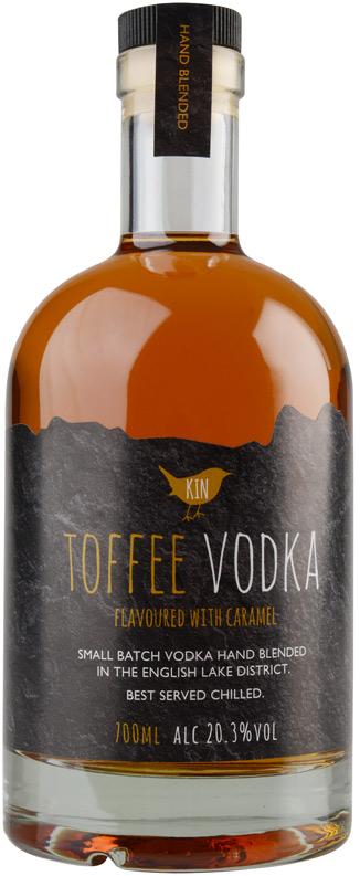 Kin Vodka branding, logo design and packaging