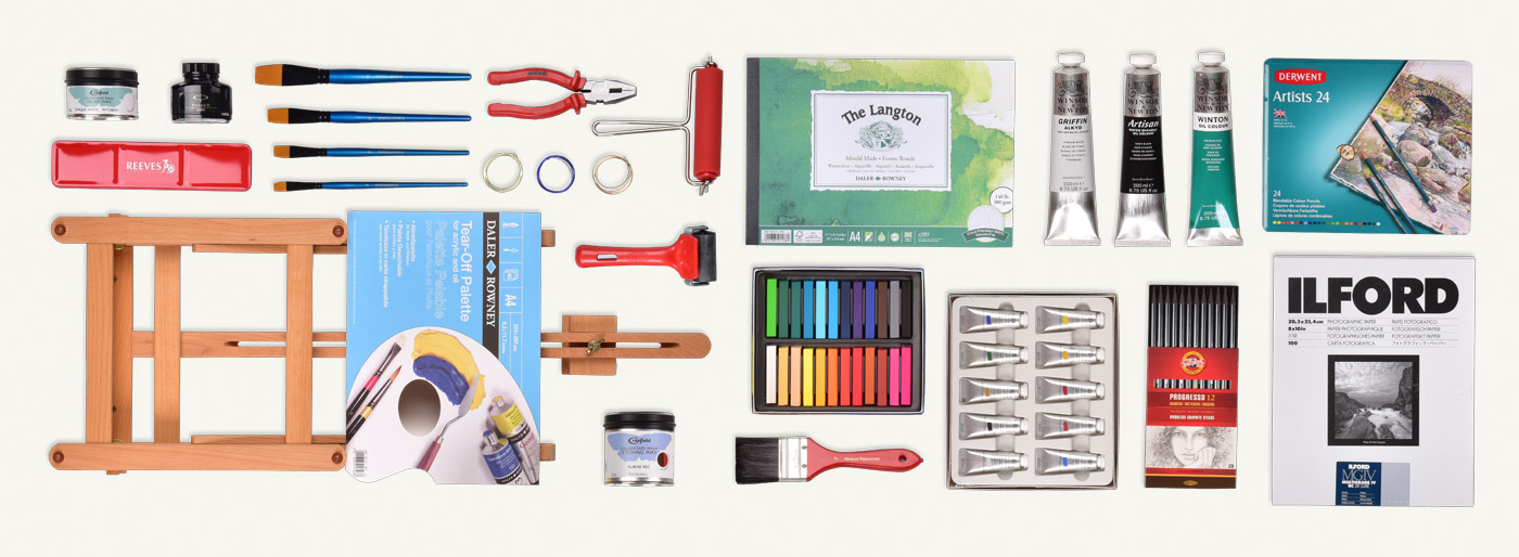 Knolling product photography