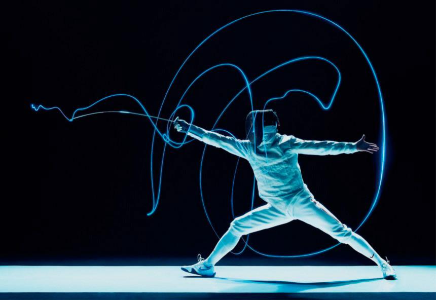 Fondo y el dibujo que hace el arma en el aire, de Fencing Visualized.