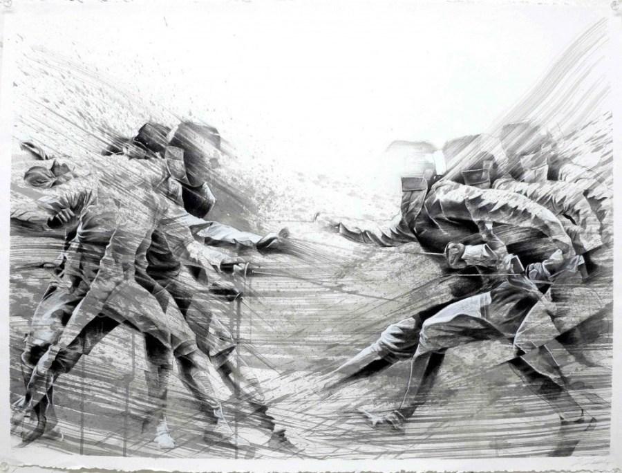 Pintura de esgrima de Aaron Li-Hill