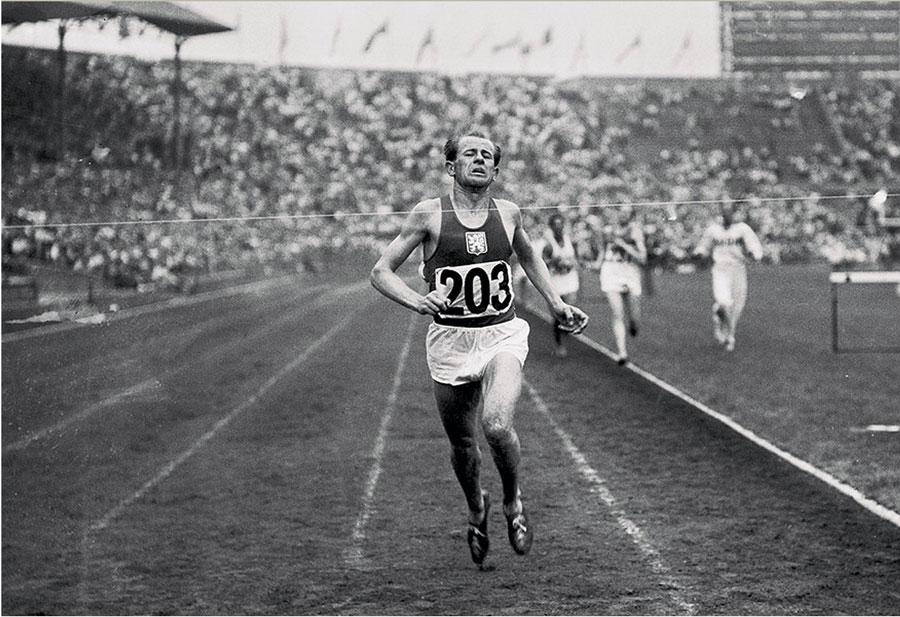 Emil Zatopek, máximo exponente del entrenamiento por intervalos