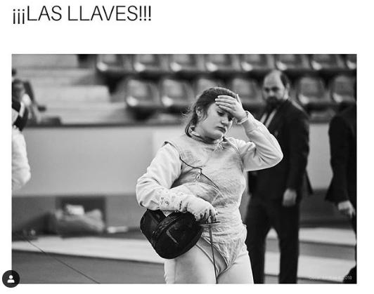 Foto de Oscar Arribas pra Fencing Memes