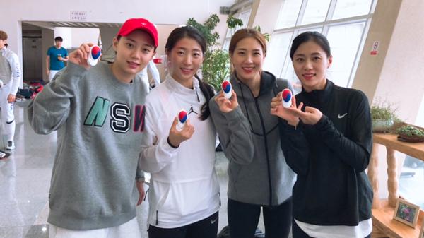 Equipo de sable femenino de Corea