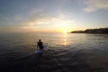 Chillin tathra stand up paddle boarding sup sunrise Alex Parsons