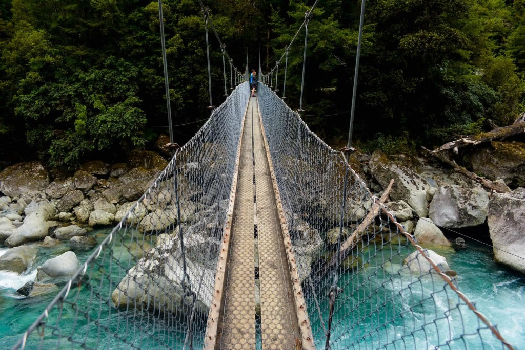 Lisa Owen Te Anau - Milford Highway Hikes Suspension Bridge