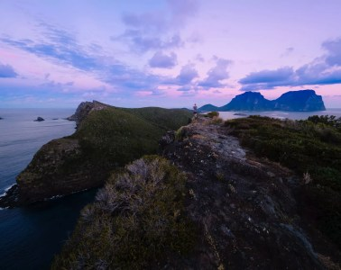 Lord Howe Island's Photography Hot Spots, Matt Horspool, Mt Gower, purple, cloud, ocean, landscape, hero