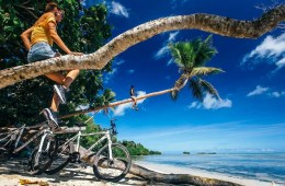 henry brydon, adventuring in paradise, vanuatu, island, pacific, tropical, adventures, palm, bikes, beach