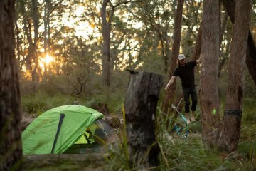 Sleeping Like A Star - NEMO Galaxi 2P // Gear Review, Jon harris, review by Mattie Gould, meroo head camp ground, nsw, slackline, sunset