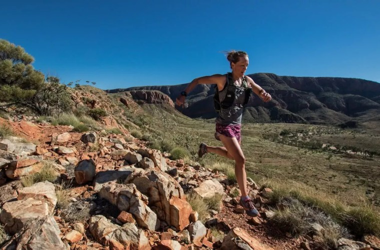 10 Clear Signs That You're A Trail Runner - Scout Hinchcliffe - Chis Ord Photo - runner hydration pack mountains, Larapinta Trail