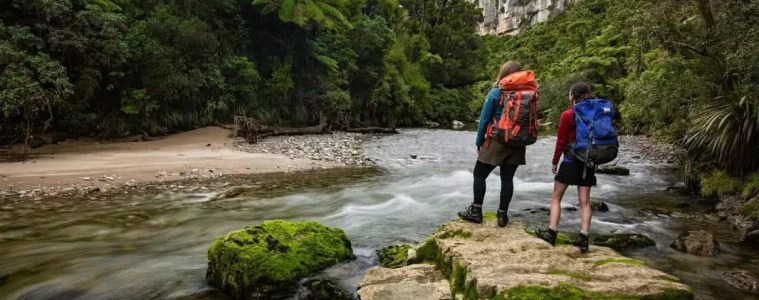 The Latest and Greatest of Great Walks --- The Paparoa Track and Pike29 Memorial Track Department of Conservation, NZ river, hikers cliffs