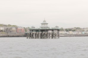 The pier at Clevedon - the mid point of the journey
