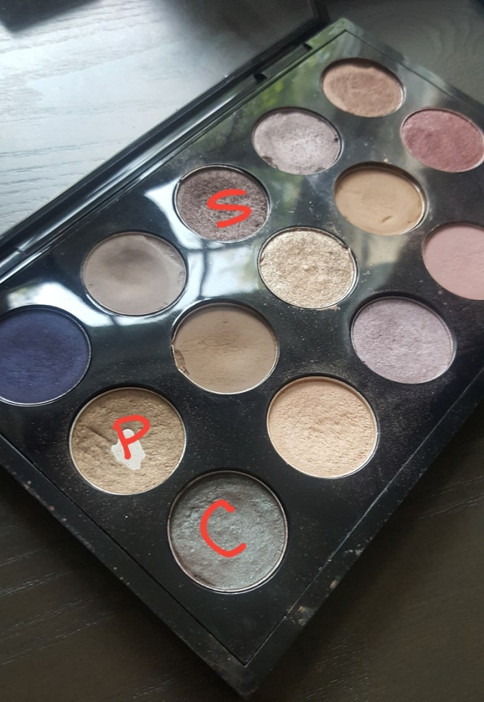 MAC Palette with Patina, Club, Satin Taupe highlighted