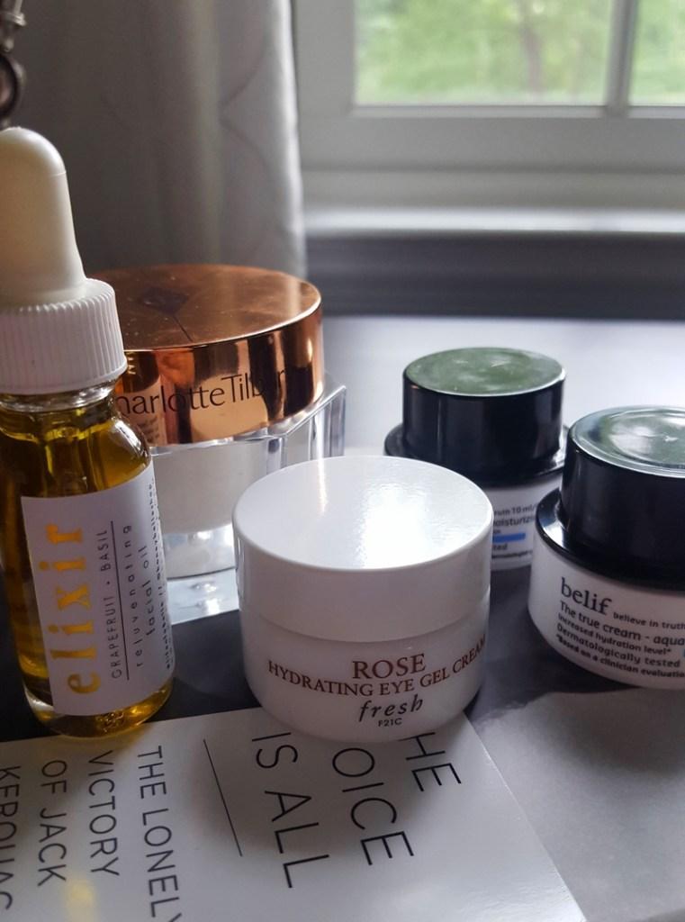 Skincare overlay featuring Honey Belle, Charlotte Tilbury, Fresh & Belif