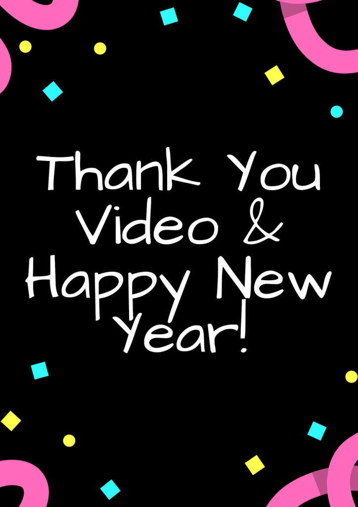 A thank you video for my lovely blog readers & followers, plus a message for the New Year!