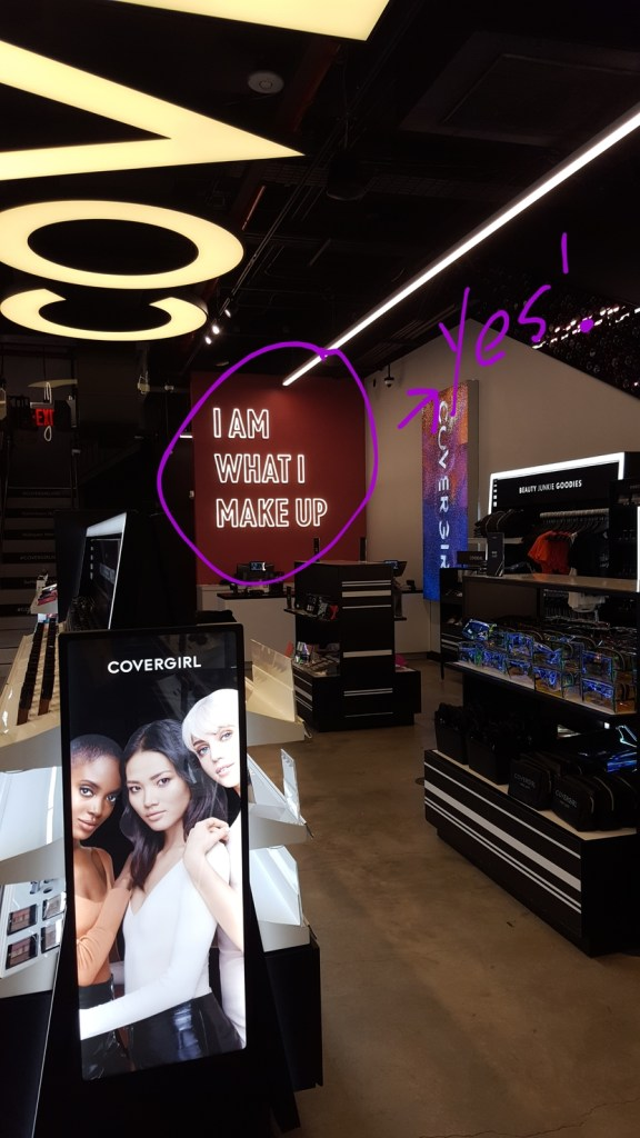 Interior of CoverGirl store