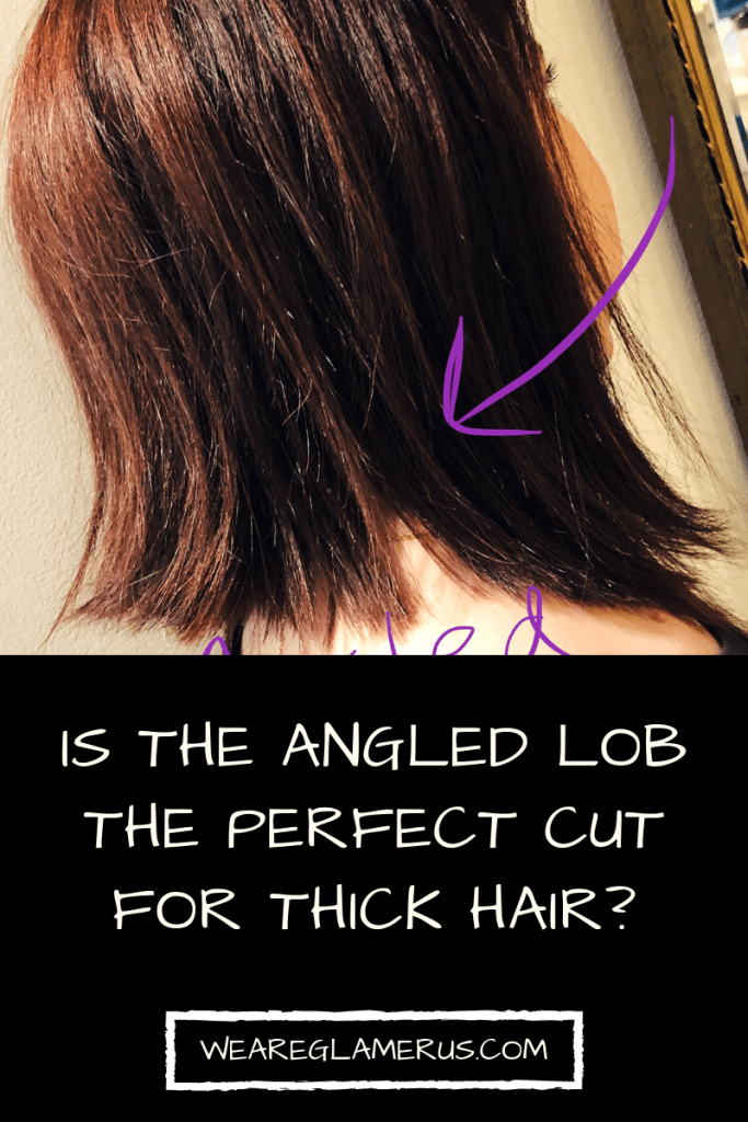 Struggling with your thick, unruly hair? Looking to change up your style? Check out my post all about my angled lob haircut!
