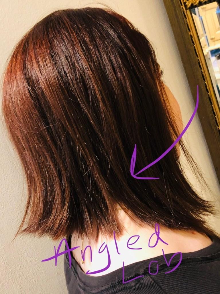 Angled lob haircut