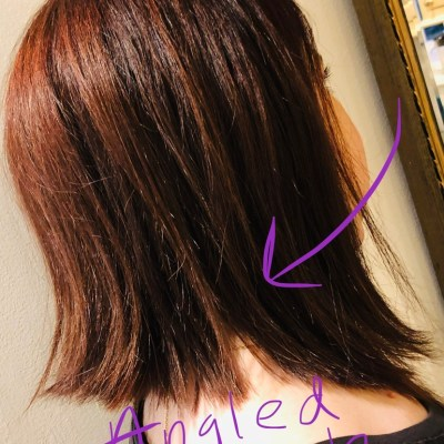 Is the angled lob the perfect cut for thick hair?