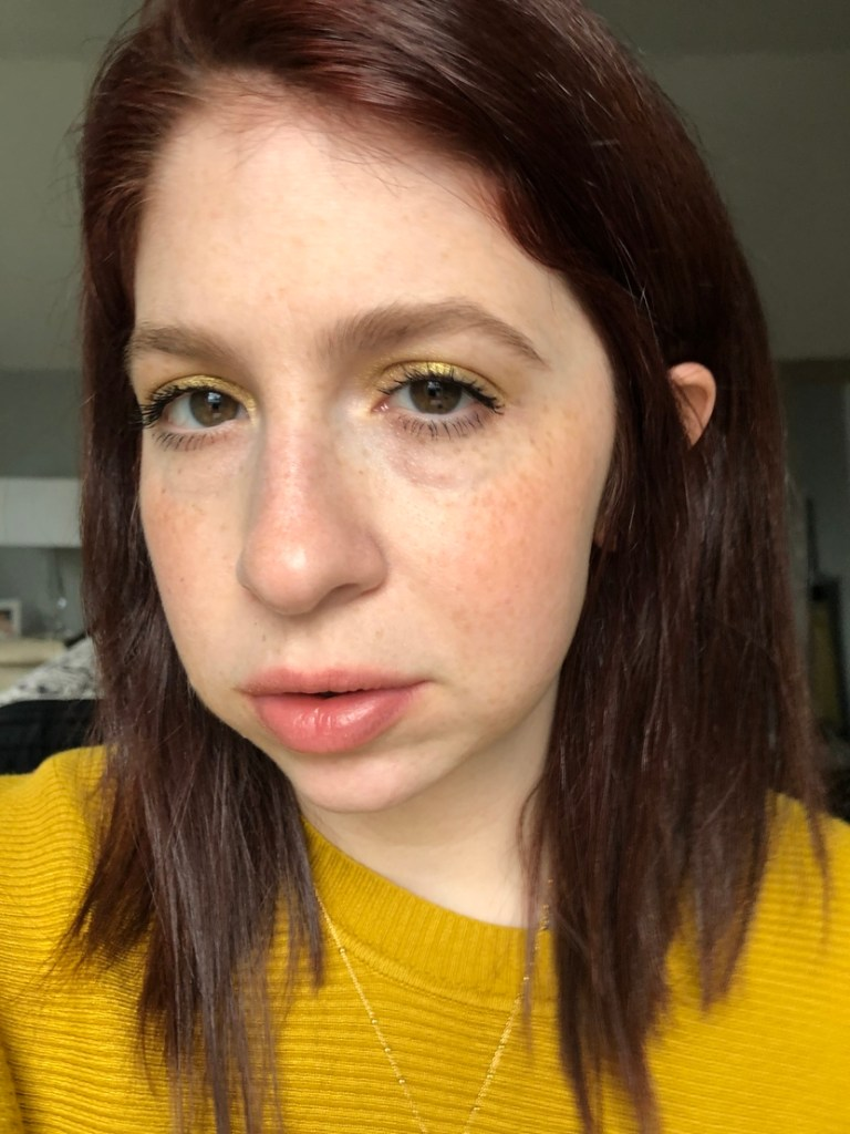 Look #2 from Capsule Makeup Series featuring bright yellow eyeshadow