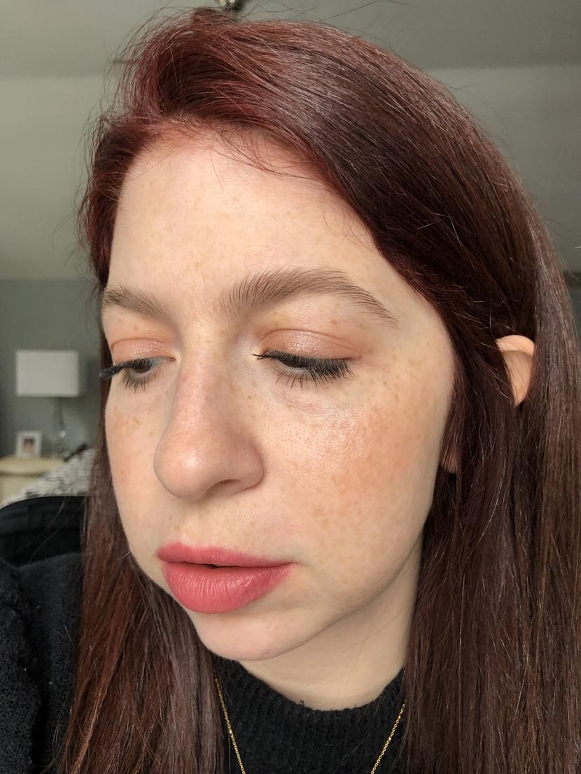 Detail on glowy & glossy look from Capsule Makeup Series