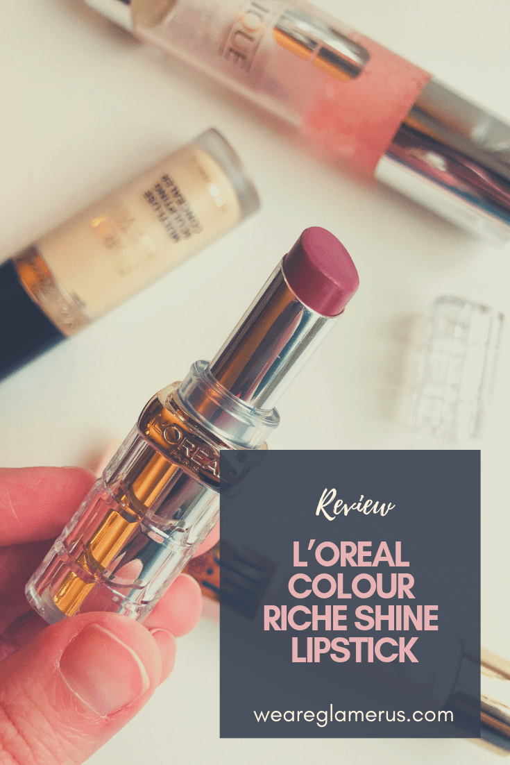 Today I'm giving my review of the beautiful L'Oreal Colour Riche Shine Lipstick in the shade Varnished Rosewood