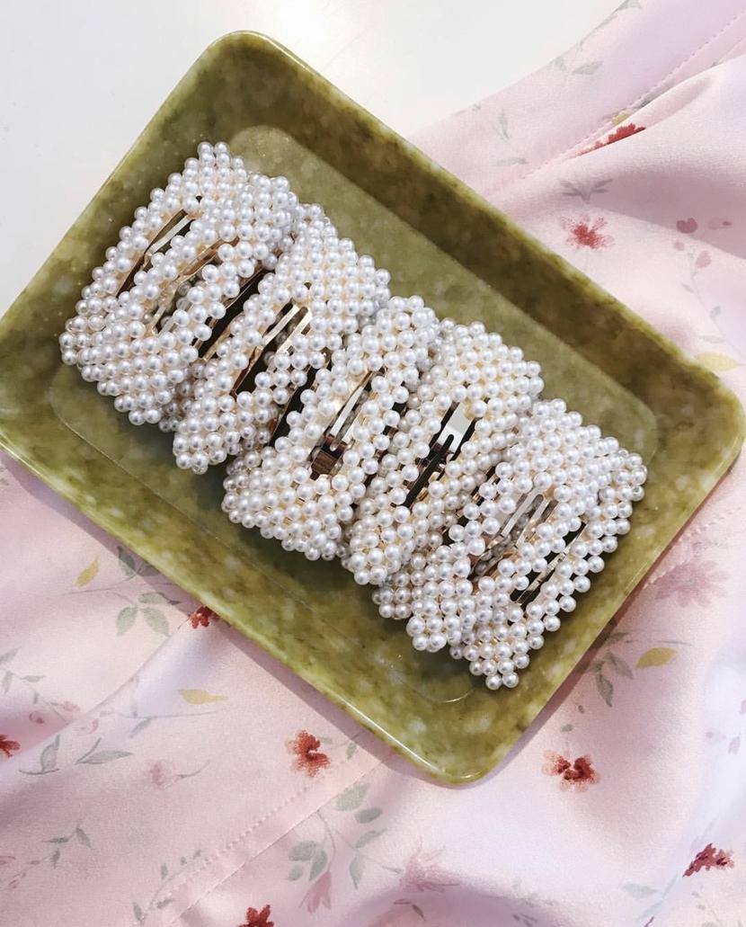 Beaded hair clips